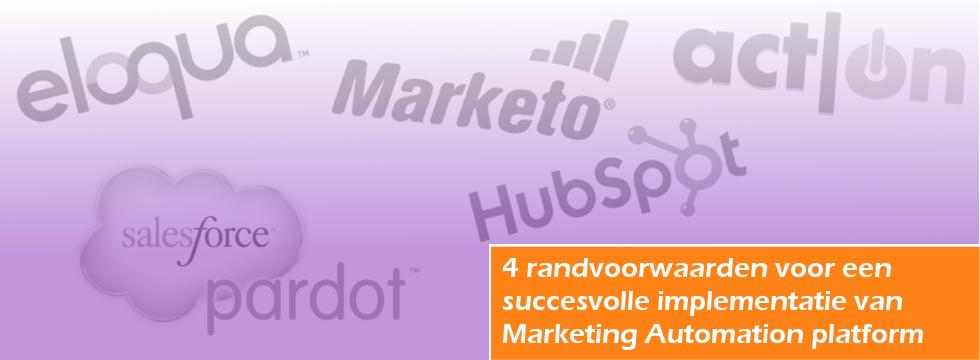 L20 4 randvoorwaarden Marketing Automation