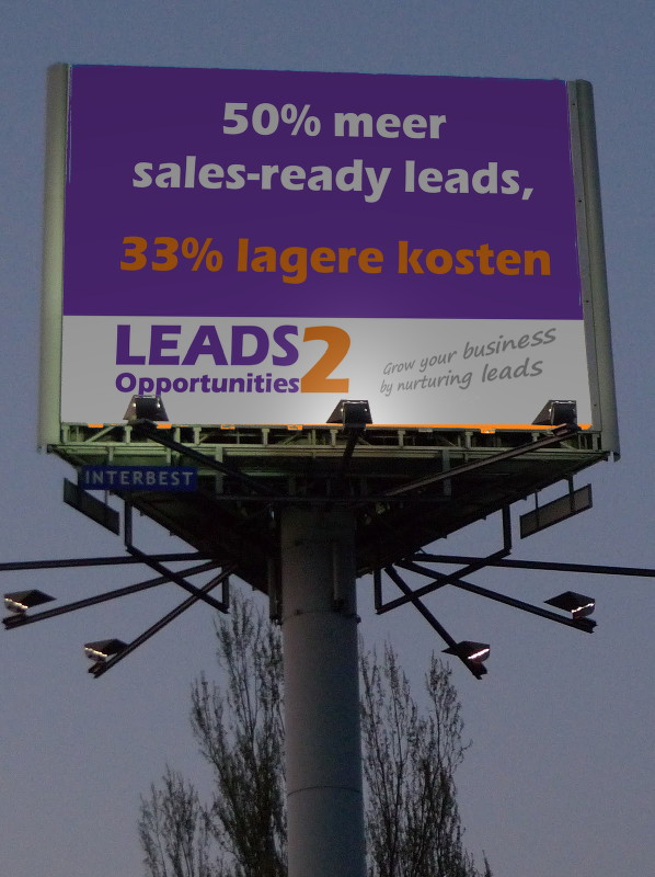 LEADS2opportunities | Billboard A13 | 1 april